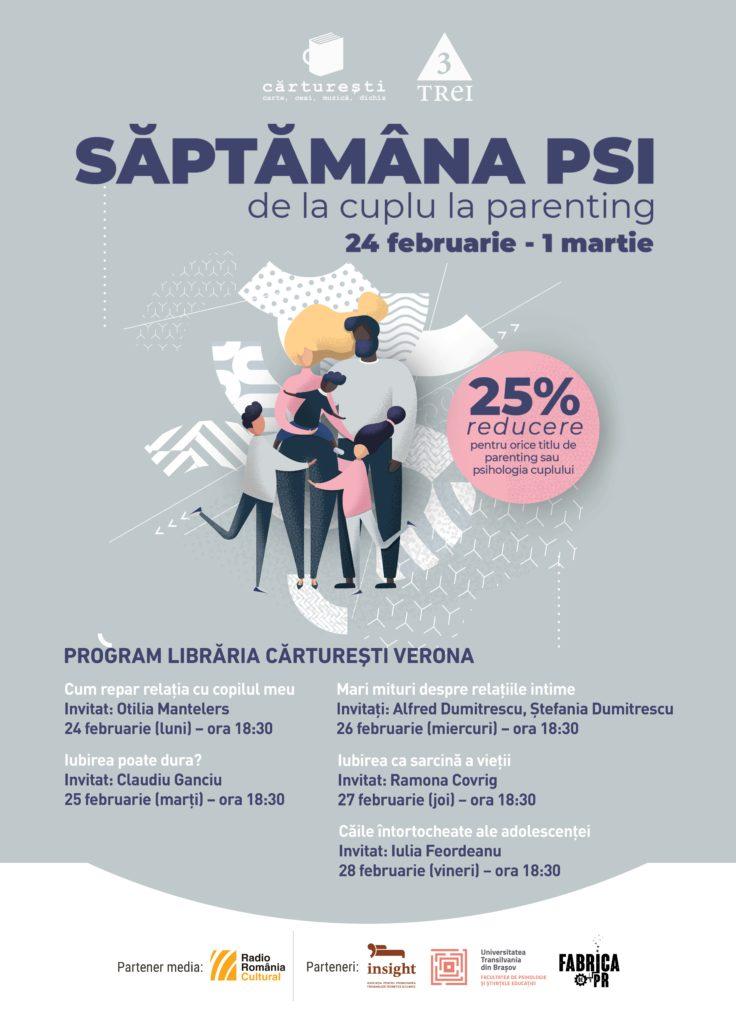 Săptămâna PSI, o nouă ediție despre psihologia cuplului, familiei și copilului în 7 orașe din țară și la Chișinău 1