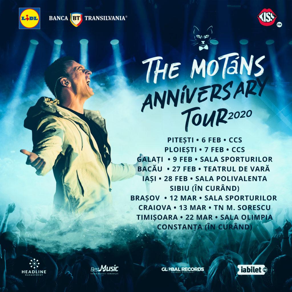 The Motans Anniversary Tour - un nou oraș anunțat și peste 70% din bilete epuizate! 1